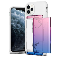 Чехол VRS Design Damda Glide Shield для iPhone 11 Pro White Pink-Blue